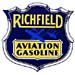 Richfield Aviation Gasoline Pump Decal aeroplanes airplanes Eagle Arco