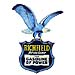 Richfield Hi Octane Gasoline Pump Decal Eagle Bird Arco