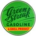 Green Streak Gasoline Shell Oil Gas Decal