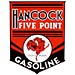 Hancock 5 Point Gas Decal 5 rooster chicken