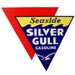 Seaside Silver Gull Gasoline Pump Decal Seagull Bird