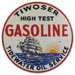 Tiwoser Gasoline Pump Decal Scooner Tidewater Associated Flying A Ship