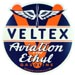 Veltex Aviation Gasoline Gas Pump Decal Fletcher Oil Company aeroplane propellar